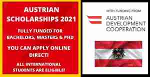 GOVERNMENT OF AUSTRIA SCHOLARSHIPS