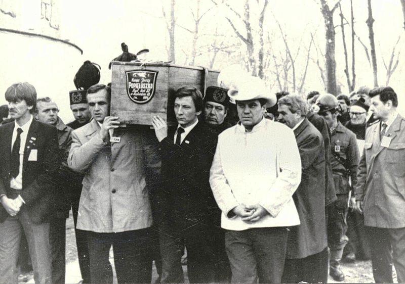 Pogrzeb Jerzego Popieluszki - trumna