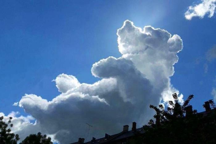 Хмара у формі ведмедя