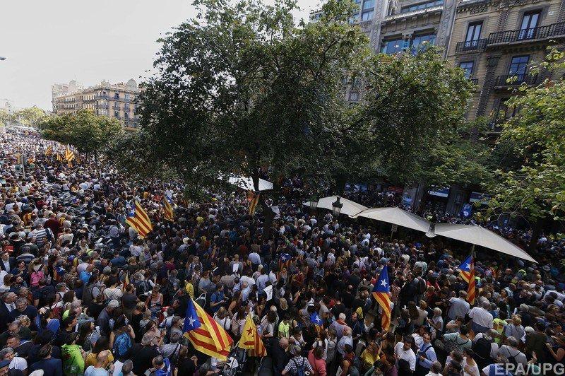Протести у Каталонії