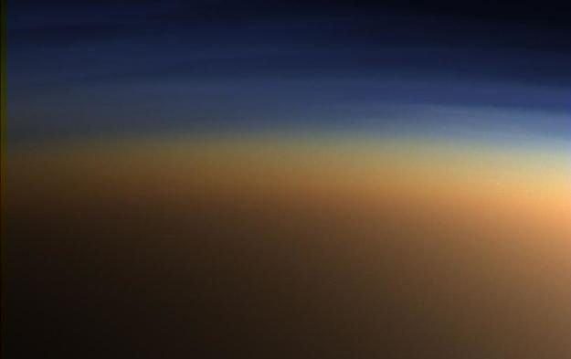 Знімок атмосфери Титана з борта Cassini.
