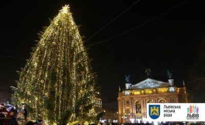 Новорічна ялинка у Львові