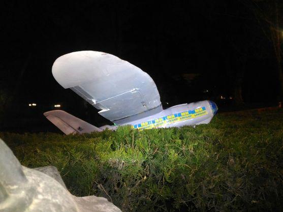 У центрі Севастополя приземлився український дрон