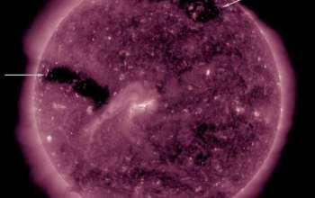 На Сонці виявлено три гігантські діри