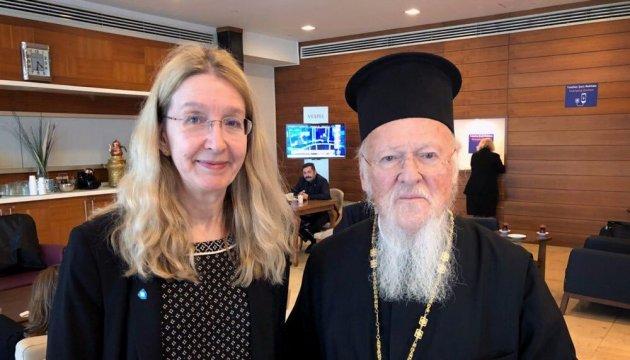 Вселенський патріарх Варфоломій та Супрун