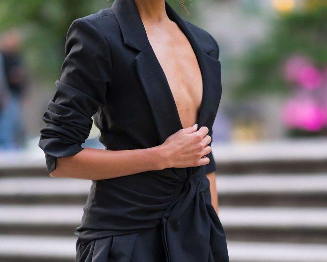Олівія Калпо і коротке чорне плаття
