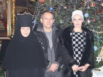 Медведчук з дружиною у гостях в ігумені Стефани
