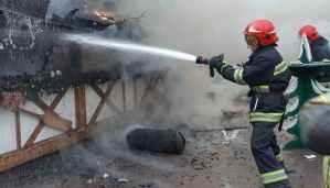 Пожежа на Різдвяному ярмарку у Львові