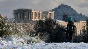 Акрополь накрив сніг