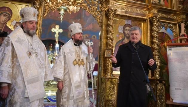 Петро Порошенко на літургії у Вінниці