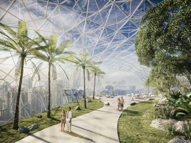 Всередині незвичайної будівлі будуть оглядова галерея, небесні сади, пейзажний басейн і різні ресторани.