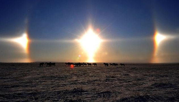 Над Китаєм світили три сонця