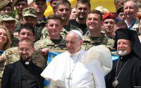 Папа Франциск і українські воїни. Ватикан, 22 травня 2019 року
