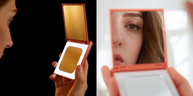 дзеркальце для макіяжу з підсвічуванням