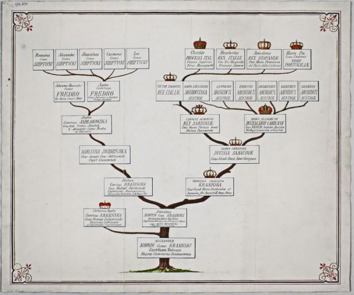 генеологічні таблиці родини Шептицьких
