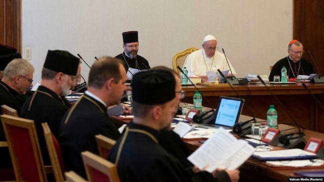 Папа Франциск і провід УГКЦ на зустрічі у Ватикані