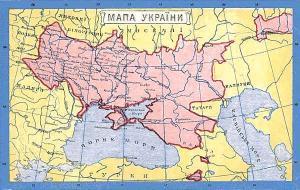 Кубань, карта України