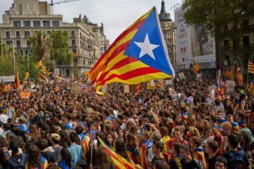 Мітинг сепаратистів у Каталонії