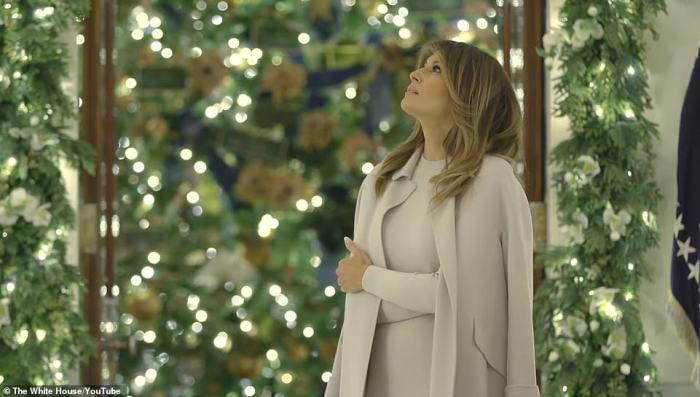 Меланія Трамп, Різдво в білому домі