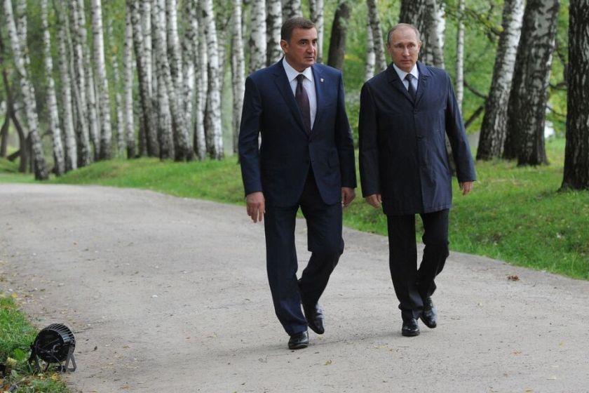 Володимир Путін і Олексій Дюмін