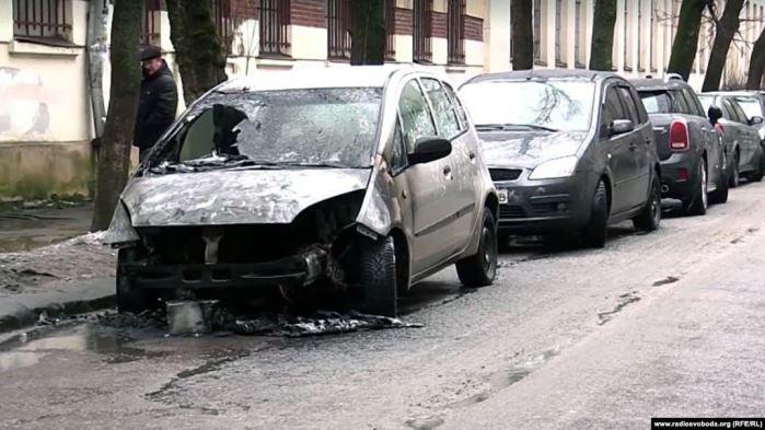 спалене авто родини Терещуків