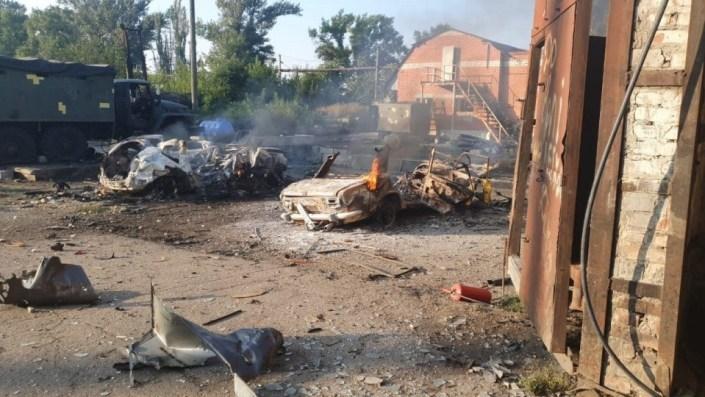 Оприлюднені фото розгромленої окупантами української бази в Авдіївці