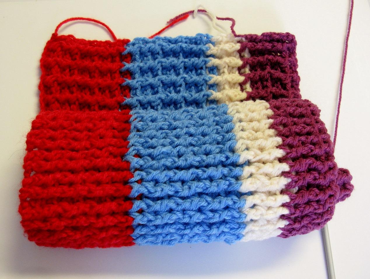 restes de laine un tapis au crochet