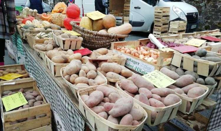 pommes de terre, marché de felletin 9/10/2020