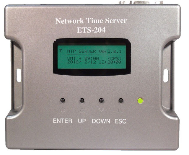 gps-ntpタイムサーバー-ets-204-g2-製品前面写真