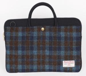 Sweech Slim Briefcase Harris Tweed