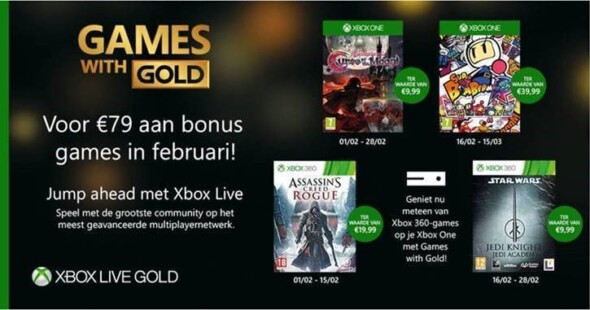 New Games With Gold Announced For February