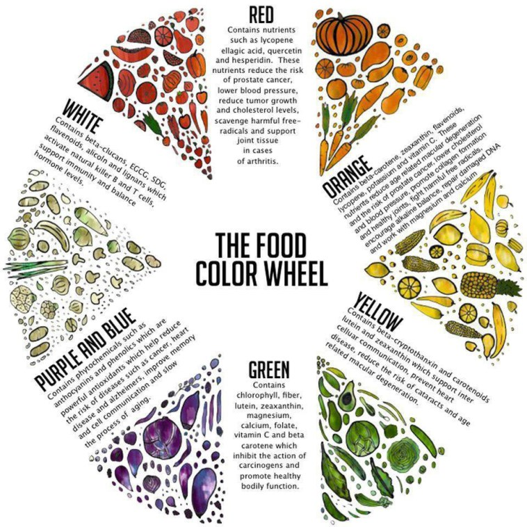 The food color wheel