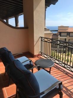 The semi-private patio