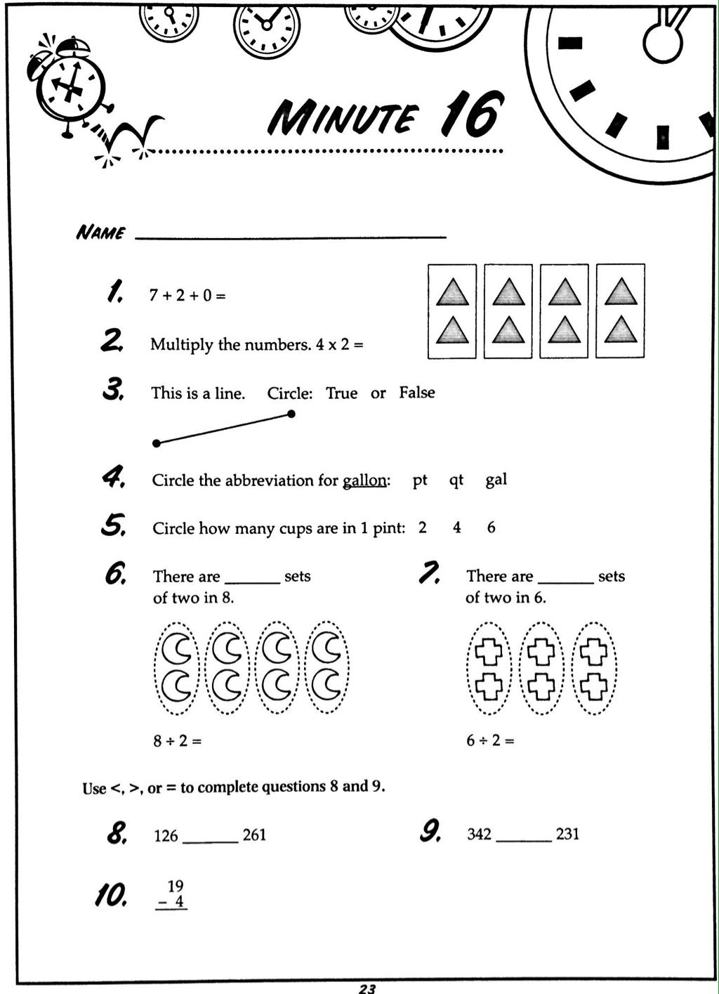 Math Minute 16