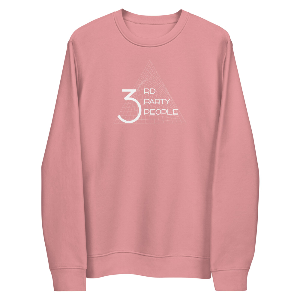 3rd Party People Grid Eco Sweatshirt Pink and Black