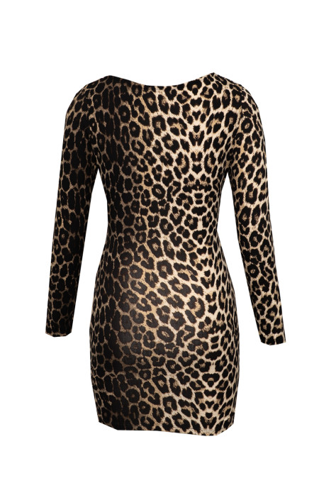 Leopard Off Shoulder Long Sleeve Bodycon Mini Dress 3rd party people