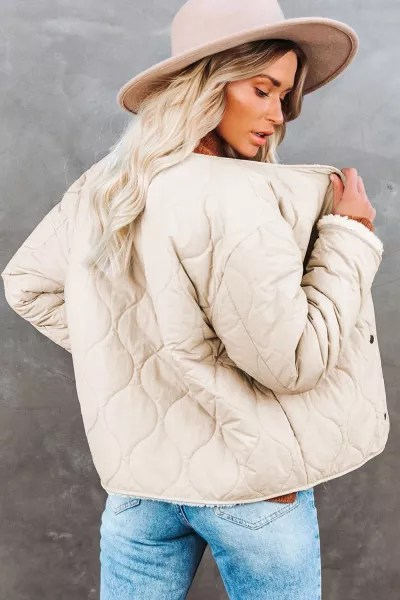 White Buttoned Double-sided Coat 6
