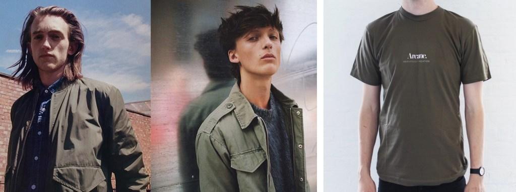 Topman modern utility trend AW15 and Arcane London t-shirt.