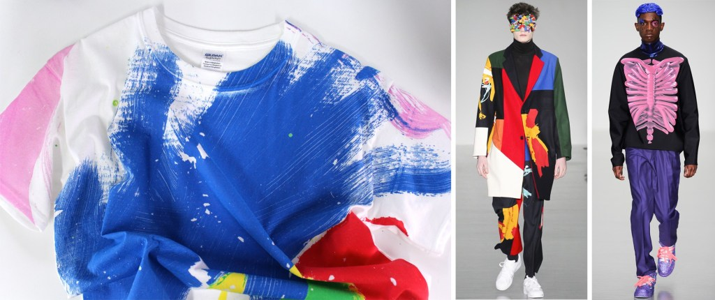 Plastisol screen printed t-shirt and catwalk photos from Agi + Sam and Katy Eary