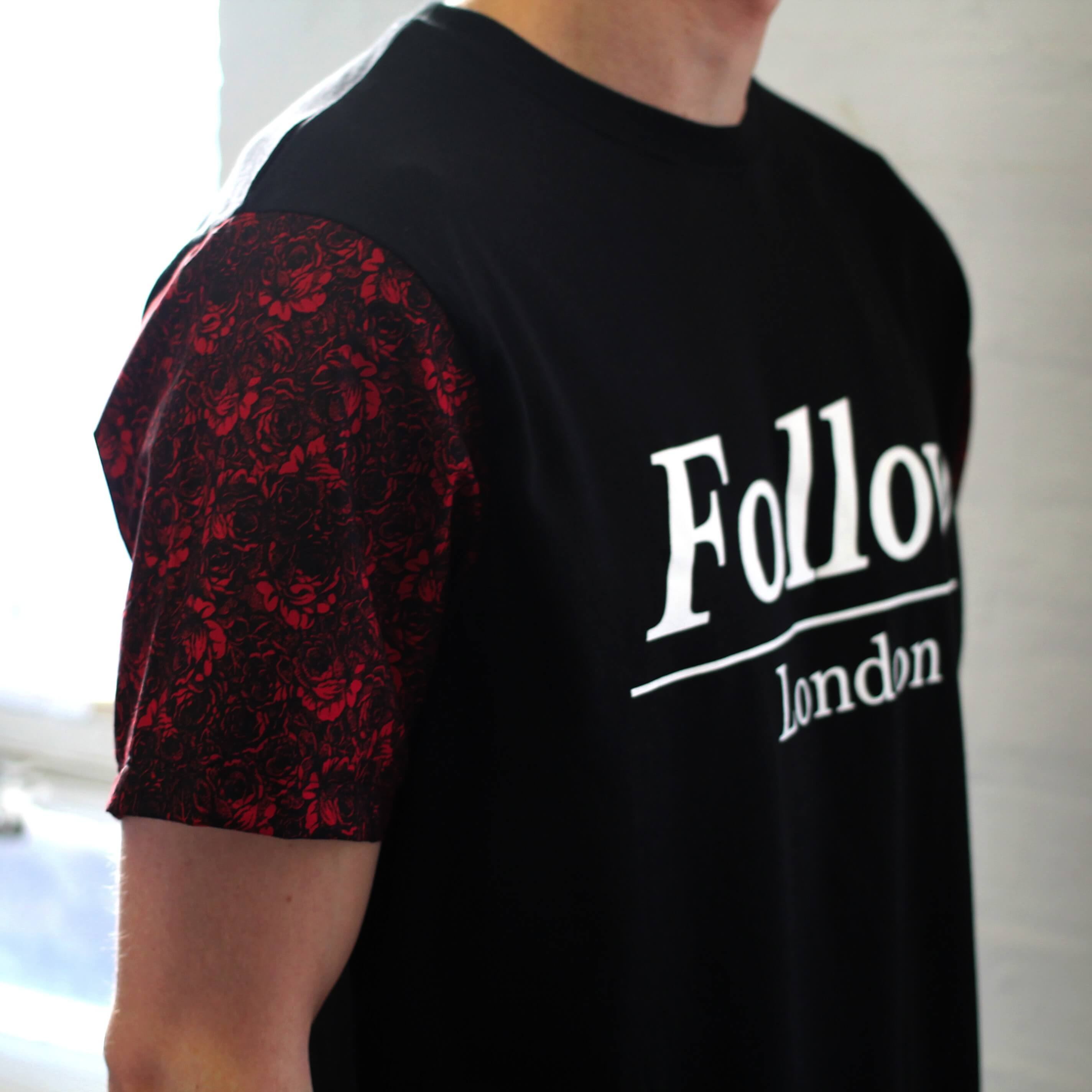 6072e6d5a4198e We love a good custom sleeve and these Follow London t-shirts work  particularly well especially when combined with a chest print.