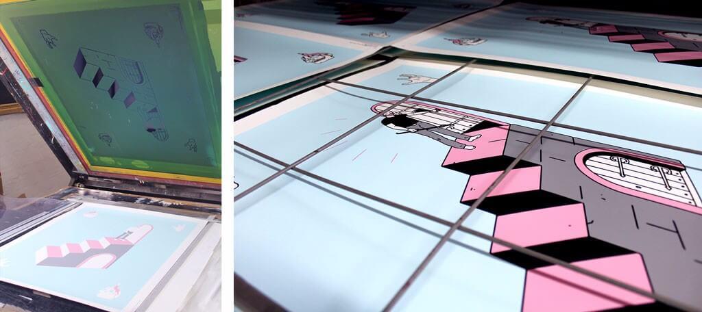 Sean Morris - Bad Decisions 4 colour screen print.