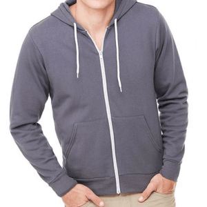 BE106 Bella + Canvas Unisex Full Zip Hoodie