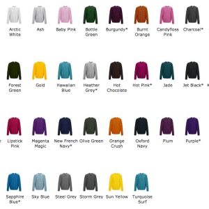25 x Sweatshirts With A 1 Colour Screen Print