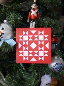 Vintage Quilt Block, Holiday Card, 3rd Story Workshop, Cricut Maker