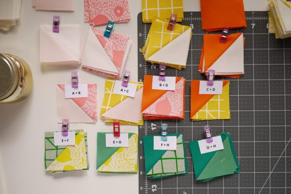 Modern Quilt Pattern - 3rd Story Workshop - The Positive Side - Half Square Triangles