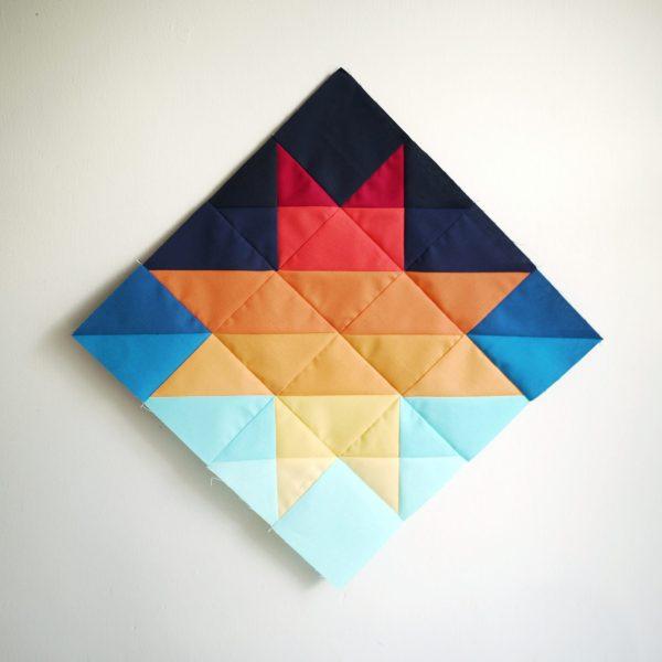 Sunset Quilt Pattern - Sunset Sawtooth - 3rd Story Workshop