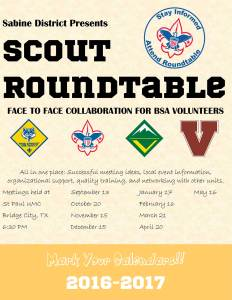 Sabine Roundtable Flyer