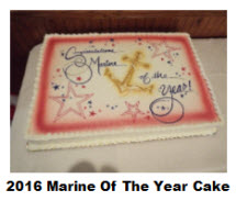 2016 Marine of the Year Cake