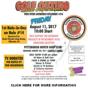 2017 Marine Corps League Golf Outing August 11, 2017