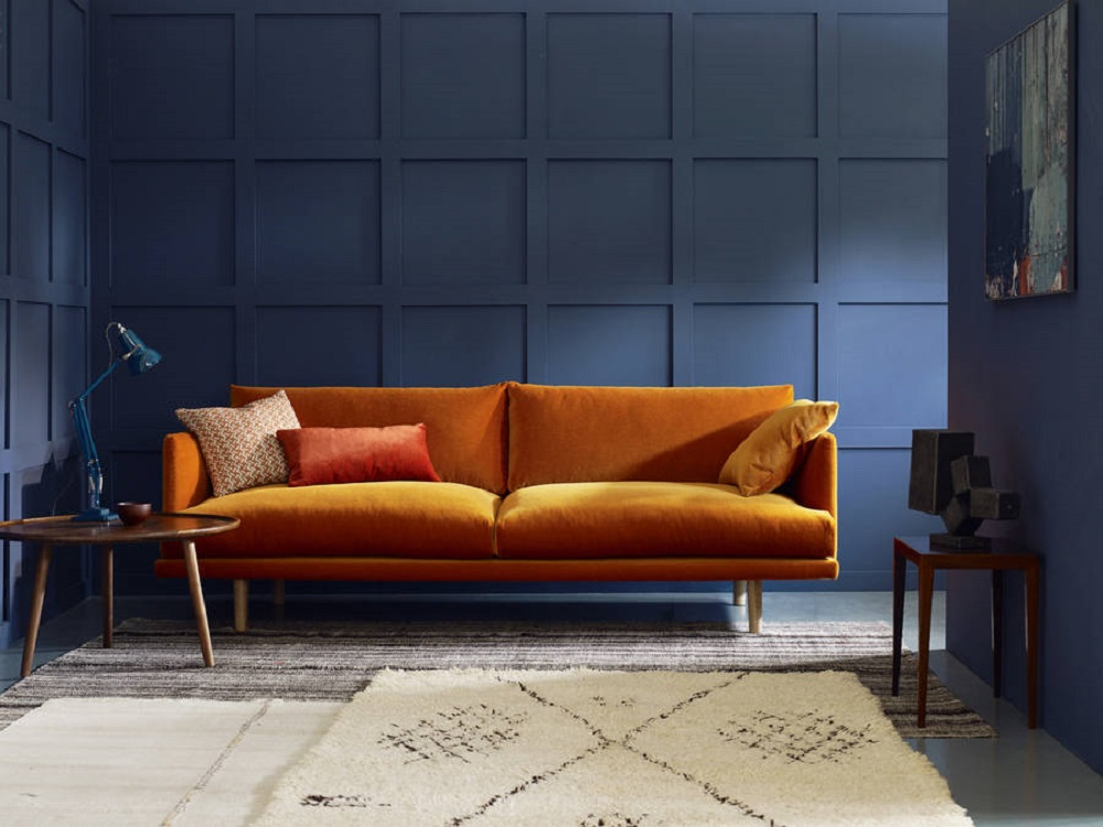 Navy Blue Couches Living Room